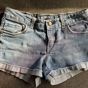 Levis Shorty Shorts 16 denim jeans 16R Girls/Youth